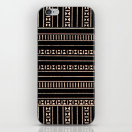 Vintage Black and Tan Pattern iPhone Skin