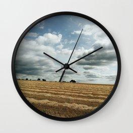 British wheat fields Wall Clock