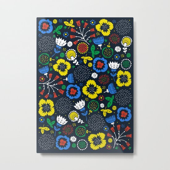 Blooming Wild Metal Print