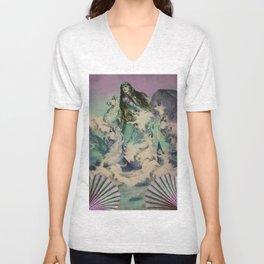 The mermaid & her horses Unisex V-Neck