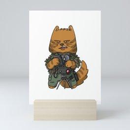 Spotter sniper tactical cat lover gift ideas Mini Art Print
