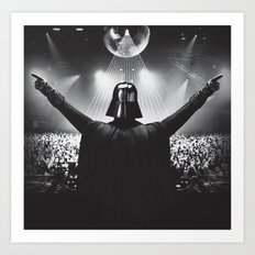 Darth Vader rocks the party Art Print