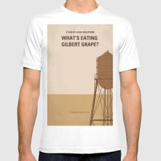 No795 My Whats Eating Gilbert Grape minimal movie poster MEDIUM White Mens Fitted Tee