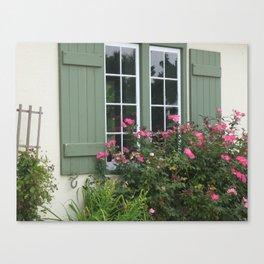 Window & Roses Canvas Print