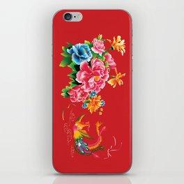chinese peonies and phoenix iPhone Skin