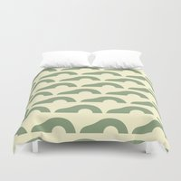 avocado Duvet Covers featuring Avocado by Kay Wolfersperger