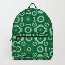 Green Monochrome Geoemetric Mosaic Pattern Backpack