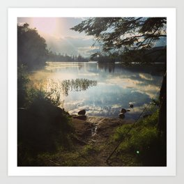 Lake Durant Fishing Art Print