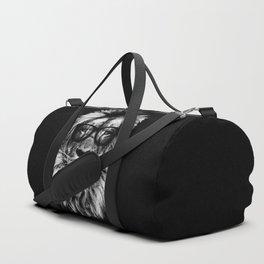 Hipster Lion Black Duffle Bag