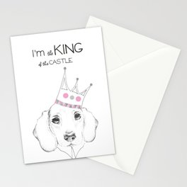 I'M King of this castle Stationery Cards