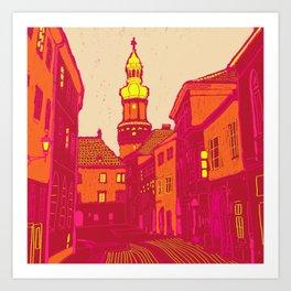 Ville fauve Art Print