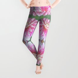 252 - Pink Flower Pattern Leggings