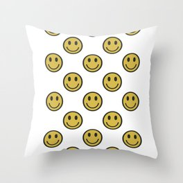 Smileys Throw Pillow