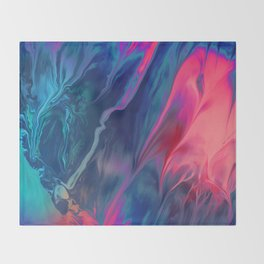 Color scattering Throw Blanket
