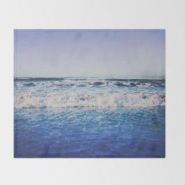 Indigo Waves Throw Blanket
