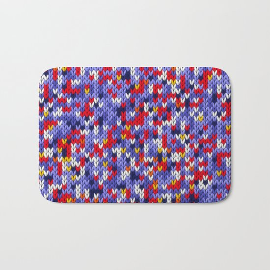 Knitted multicolor pattern 2 Bath Mat