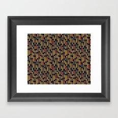 Tiny Pencils Black Framed Art Print