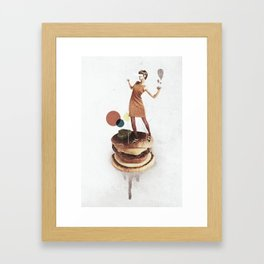 These Burgers Are Crazy   Collage Framed Art Print