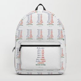 Think About Such Things . . . Backpack