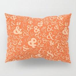 Ampersands - Orange Pillow Sham