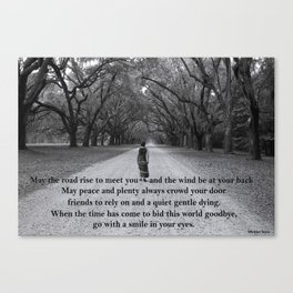 Walking to Wormsloe (with words) Canvas Print