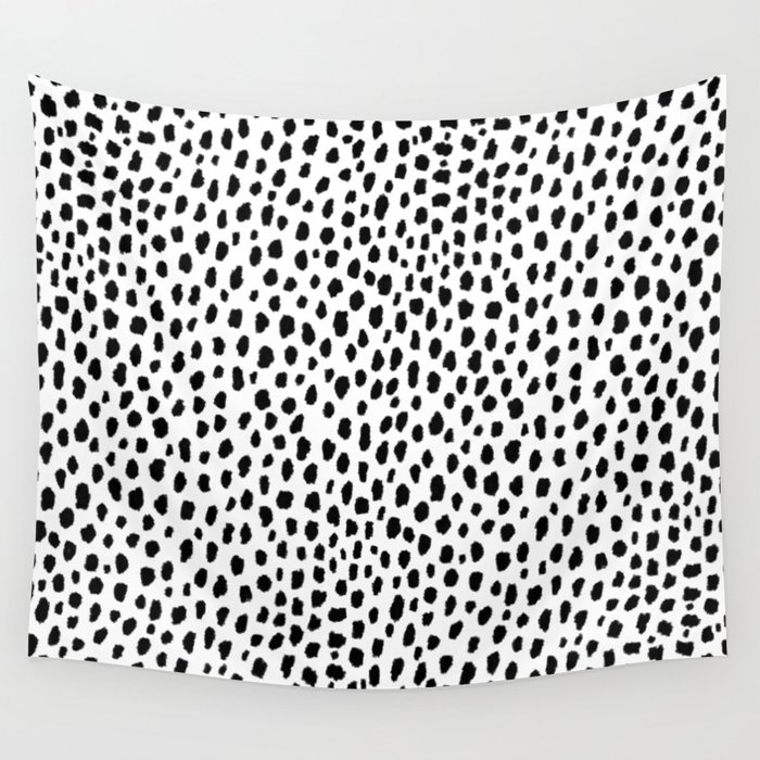 Dalmatian Spots (black/white) Wall Tapestry