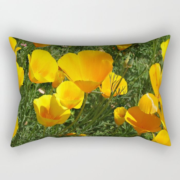Orange Poppy Rectangular Pillow