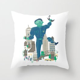 MY FATHER... IS A COP Throw Pillow