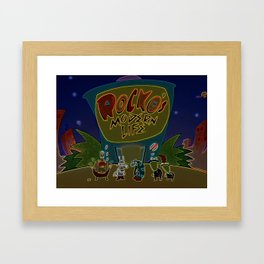 Rocko And The Crew Framed Art Print
