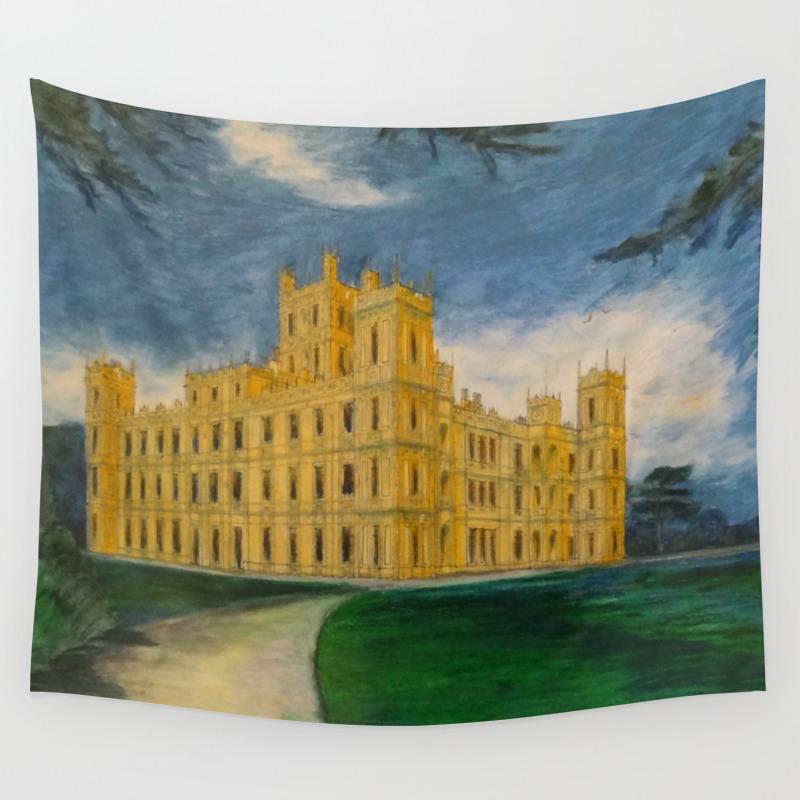 Downton Abbey - Highclere Castle Wall Tapestry by Braininside TPS7206336