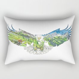 Freedom in the Mountains Rectangular Pillow