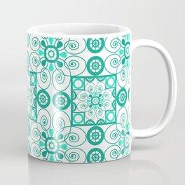 White turquoise ornament arabic Coffee Mug