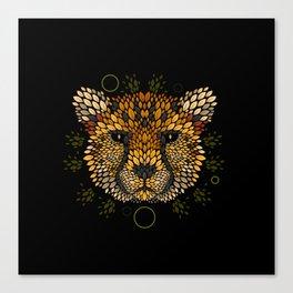 Cheetah Face Canvas Print