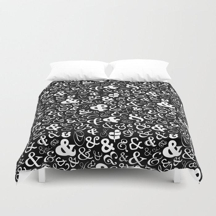 Ampersands - Black & White Duvet Cover