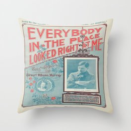 Vintage Musical Poster Throw Pillow