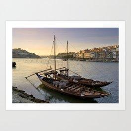 Oporto sunset,  Portugal Art Print
