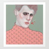 queer Art Prints featuring Queer by HudaArt