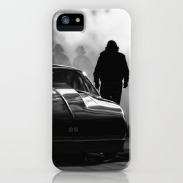 Funny Car Dragster Under the Lights iPhone Case