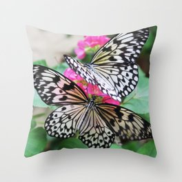 Butterfly Gardens Throw Pillow