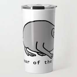 Metal Year of the Rat Travel Mug