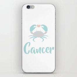 Cancer June 21 - July 22 - Water sign - Zodiac symbols iPhone Skin