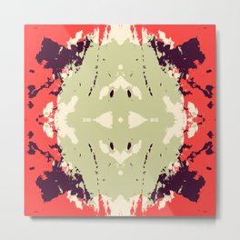 Akihime - Abstract Rorschach Butterfly Metal Print
