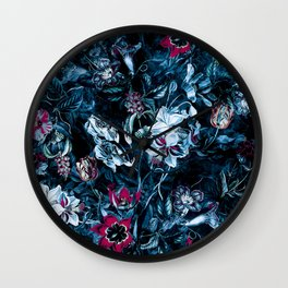 Night Blue Wall Clock