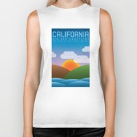 big sur Biker Tanks featuring Big Sur, California by dzynwrld