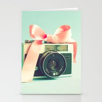 forever young Stationery Cards featuring Forever young  by Caroline Mint