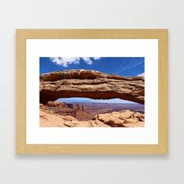 Mesa Arch View Framed Art Print