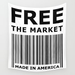 Free The Market Wall Tapestry