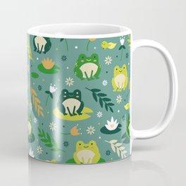 Cute little frogs pond pattern Coffee Mug