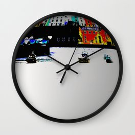 Boats In The Habour Wall Clock