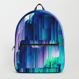 Glitches Be Trippin' - Abstract Pixel Art Backpack